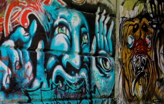 There's a graffiti-covered tunnel that connects the Exeter Trail to the Neversink Loop.